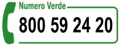 Numero verde 800 592420